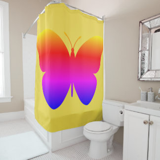 Filtered Butterfly, Shower Curtain