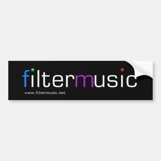 FilterMusic bumper sticker
