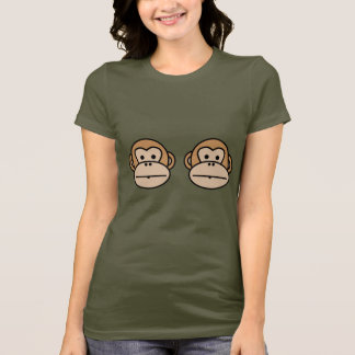 Filthy Gorgeous Supporting Monkeys -womens T-Shirt