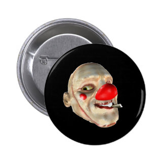 Filthy the Clown - face closeup 6 Cm Round Badge