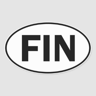 FIN Oval Identity Sign Oval Sticker