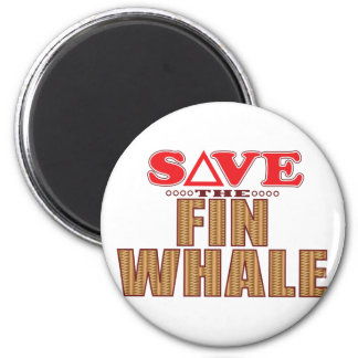 Fin Whale Save 6 Cm Round Magnet