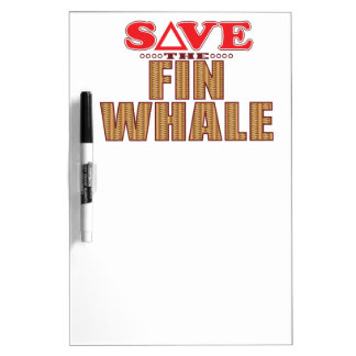 Fin Whale Save Dry Erase Board