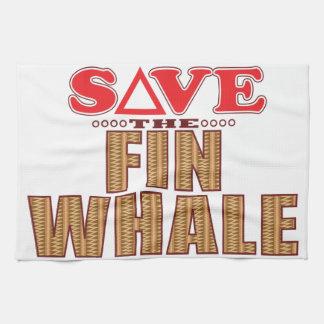 Fin Whale Save Tea Towel