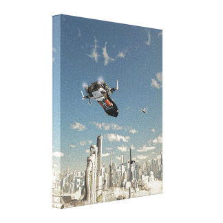 Final Approach Stretched Canvas Prints