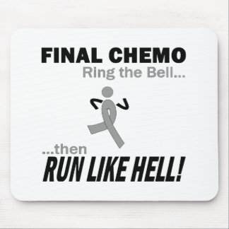Final Chemo Run Like Hell - Brain Cancer / Tumor Mouse Pad