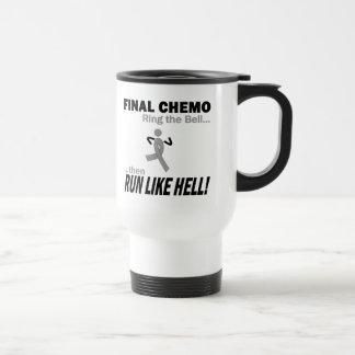 Final Chemo Run Like Hell - Brain Cancer / Tumor Stainless Steel Travel Mug