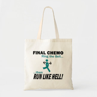 Final Chemo Run Like Hell - Cervical Cancer Budget Tote Bag