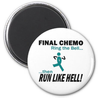 Final Chemo Run Like Hell - Cervical Cancer Magnet