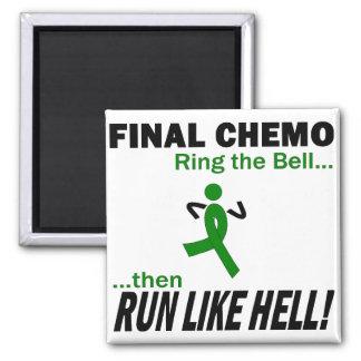 Final Chemo Run Like Hell - Kidney Cancer Fridge Magnets
