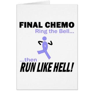 Final Chemo Run Like Hell - Lavender Ribbon Card
