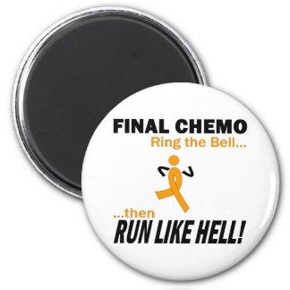 Final Chemo Run Like Hell - Leukemia Fridge Magnets