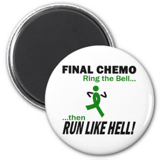 Final Chemo Run Like Hell - Liver Cancer 6 Cm Round Magnet