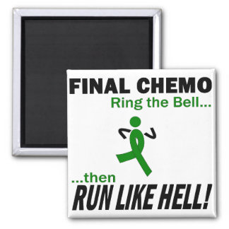 Final Chemo Run Like Hell - Liver Cancer Square Magnet
