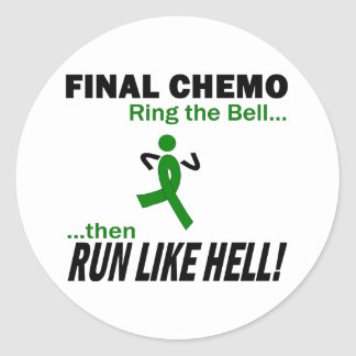 Final Chemo Run Like Hell - Liver Cancer Stickers