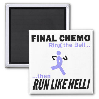 Final Chemo Run Like Hell - Stomach Cancer Refrigerator Magnets