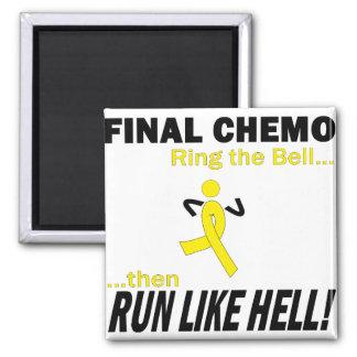 Final Chemo Run Like Hell - Testicular Cancer Fridge Magnets