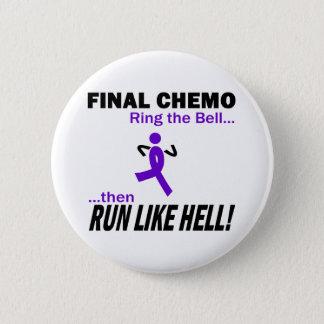 Final Chemo Run Like Hell - Violet Ribbon 6 Cm Round Badge
