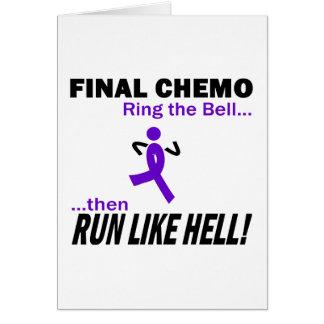 Final Chemo Run Like Hell - Violet Ribbon Greeting Card