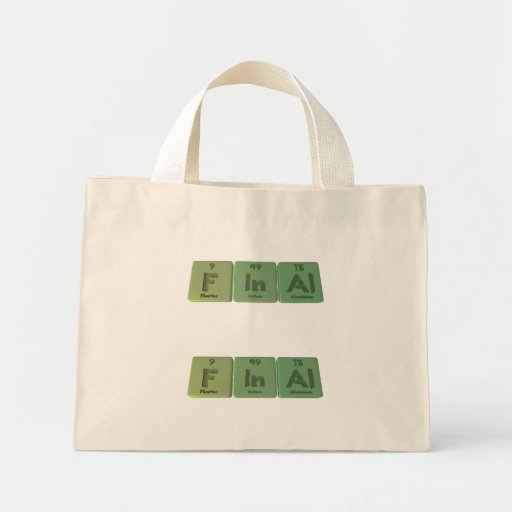 Final-F-In-Al-Fluorine-Indium-Aluminium.png Mini Tote Bag