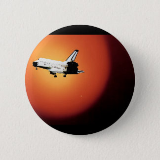 Final Flight Nasa Space Shuttle Program 6 Cm Round Badge