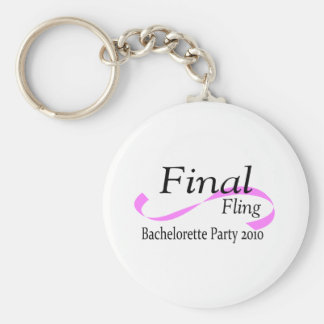 Final Fling Bachelorette Party 2010 Basic Round Button Key Ring