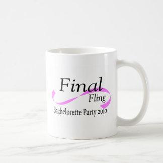 Final Fling Bachelorette Party 2010 Basic White Mug