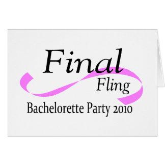 Final Fling Bachelorette Party 2010 Greeting Card