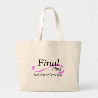 Final Fling Bachelorette Party 2010 Jumbo Tote Bag
