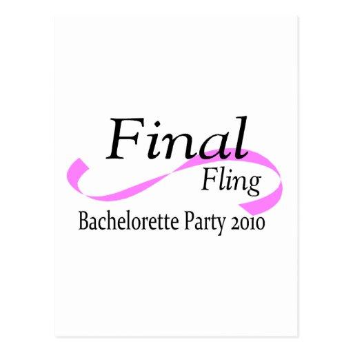 Final Fling Bachelorette Party 2010 Postcard