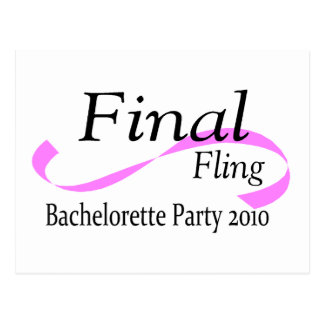 Final Fling Bachelorette Party 2010 Postcard