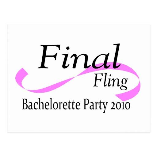 Final Fling Bachelorette Party 2010 Post Cards