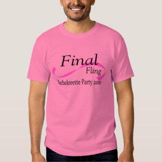 Final Fling Bachelorette Party 2010 Tee Shirt