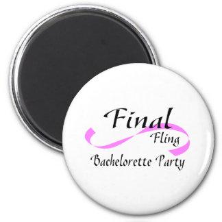 Final Fling Bachelorette Party 6 Cm Round Magnet