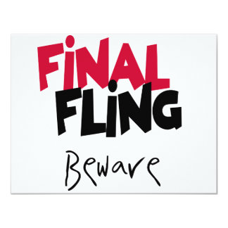 Final Fling Bachelorette Tshirts and Gifts Card