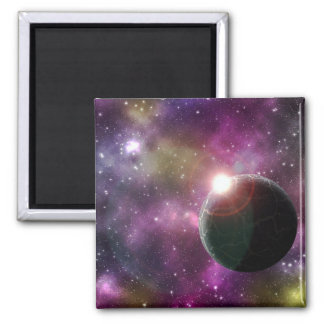 FINAL FRONTIERS - NEW WORLDS (outer space) ~.jpg Square Magnet
