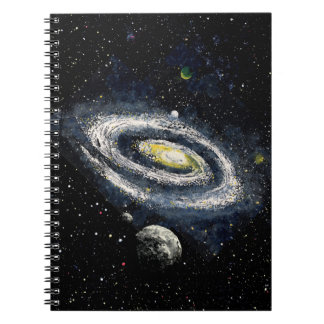 FINAL FRONTIERS outer space design 2 Notebooks