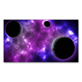 FINAL FRONTIERS - PLANETARY TRIO (outer space) ~ ~ Magnetic Business Cards