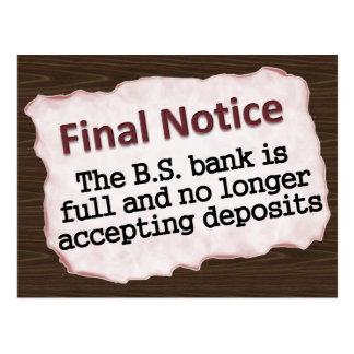 Final Notice Post Card