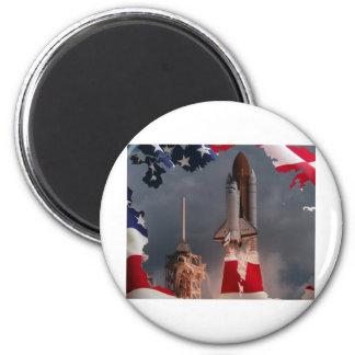 Final Shuttle Flight Fridge Magnet