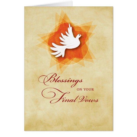 Final Solemn Vows, Nun Blessings, Holy Spirit Card