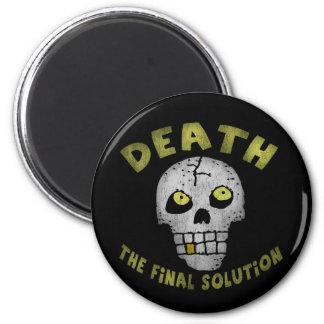 Final Solution Skull Round Magnet
