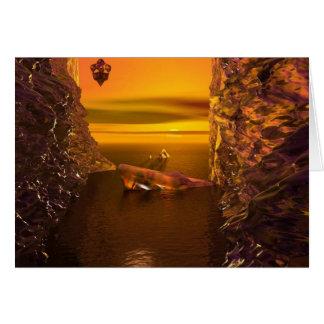 Final Sunset - Original Digital Fantasy Art Card