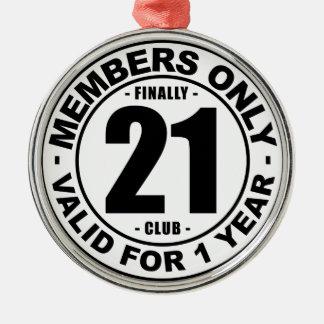 Finally 21 club christmas ornament