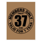 Finally 37 club postcard