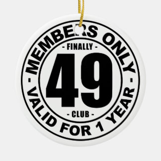 Finally 49 club round ceramic decoration