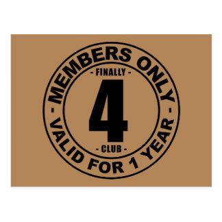 Finally 4 club postcard