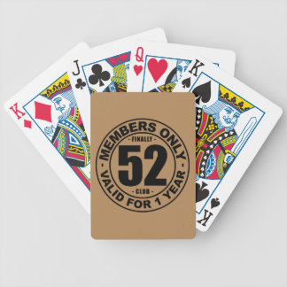 Finally 52 club bicycle playing cards