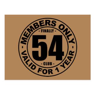 Finally 54 club postcard