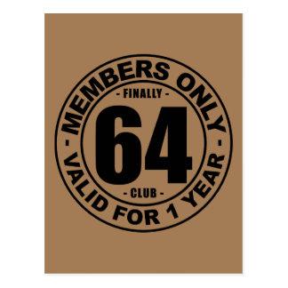 Finally 64 club postcard